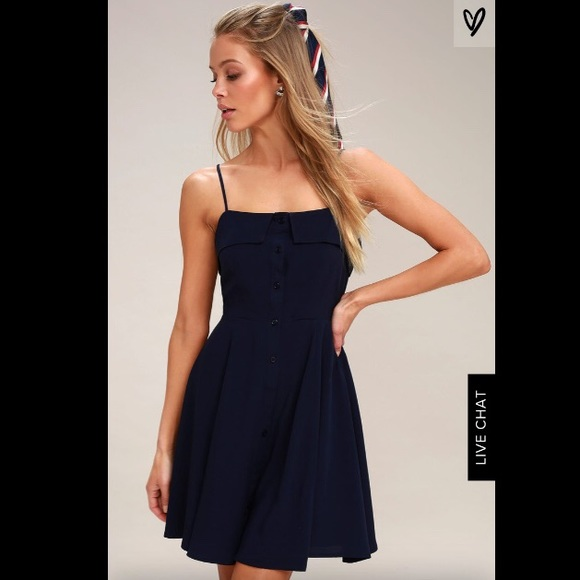 7f6728aedade Lulu's Dresses | Lulus Sweet Destiny Buttonfront Skater Dress | Poshmark